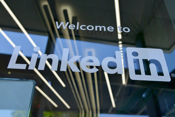 LinkedIn signage.