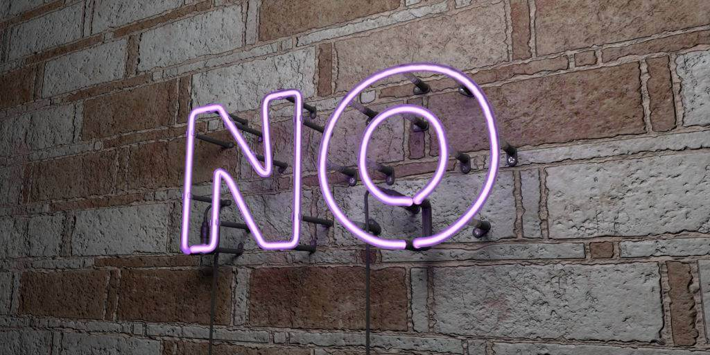 no word banner