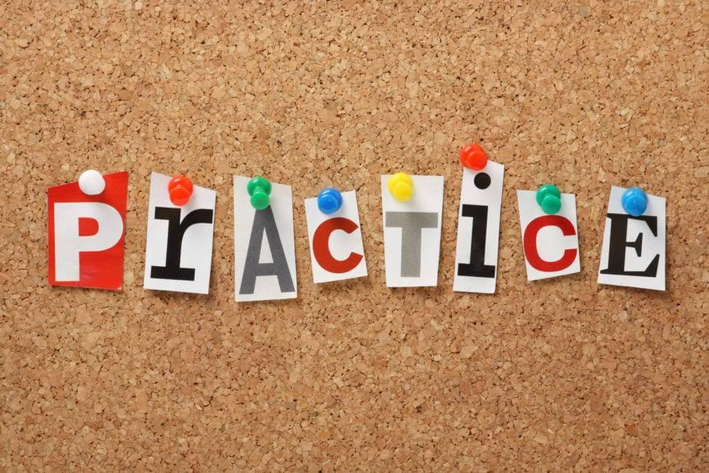 practice word pinned