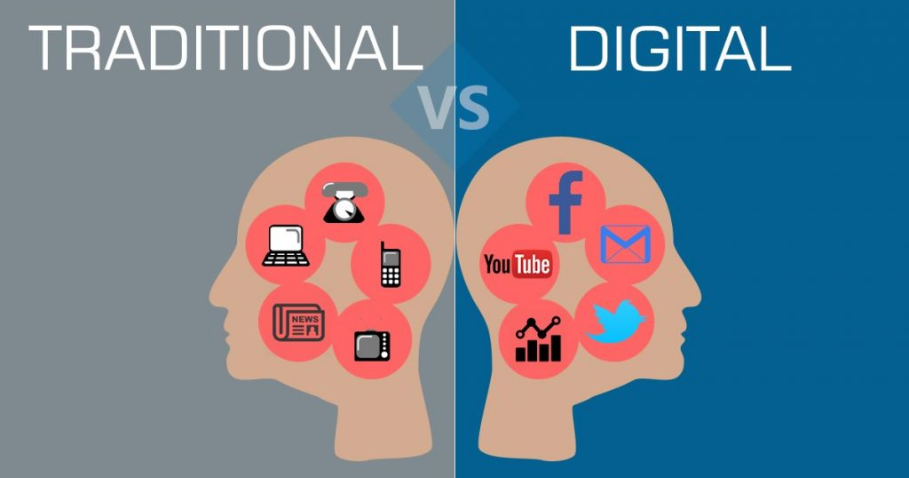 marketing traditional vs digital charity net